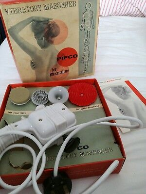 Vintage Pifco Vibratory Massager  original box full working order, accessories