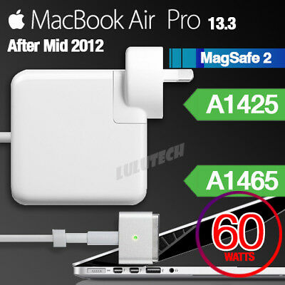 "60W MagSafe 2 T Power Adapter Charger for Apple MacBook Pro/Air 13"" A1425 A1465"