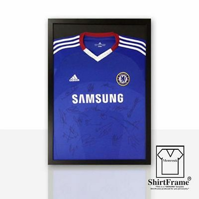 FRAMES TO DISPLAY FOOTBALL SHIRTS-SHIRT FRAME-FOR SIGNED-BLACK CLASSIC memrouk