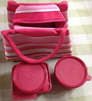 Tupperware Spring Surprise Lunch Set - Pink Lunch Bag Set - Insulated