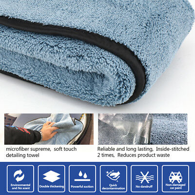 45cmx38cm Microfiber Super Thick Plush Car Cleaning Drying Cloths Towel Polish