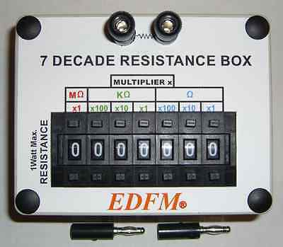 RESISTANCE DECADE SUBSTITUTION BOX 1 WATT With 2 BANANA PLUGS