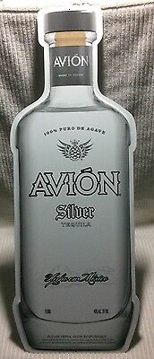Avion Silver Tequila Bottle-Shaped Metal Bar Advertising Sign Man Cave Decor