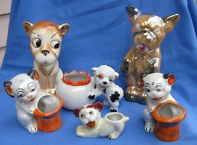 Vintage Collection of 6 Japanese Bonzo Dogs