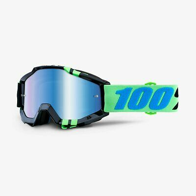 541a1c1acce 100% ACCURI Adult Goggles -ZERG- Offroad MX Motocross - BLUE MIRROR LENS
