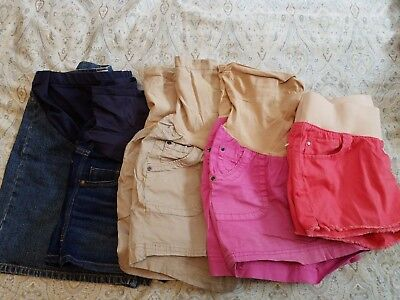 Maternity Lot of Four Motherhood Maternity & Old Navy Shorts, Size Small (S)