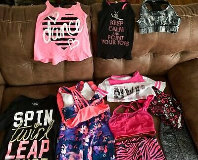 Dance Wear Justice, Balera, Gap Huge Lot sizes 7 8 9 10 tanks, bras, jazz shorts