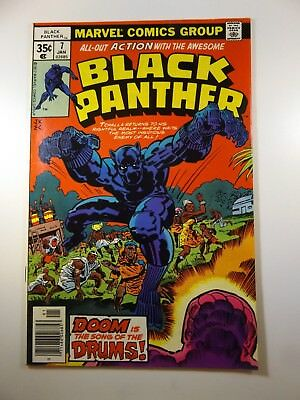 """Black Panther #7 """"Drums!"""" Kirby Art!! Sharp VG Condition!!"""