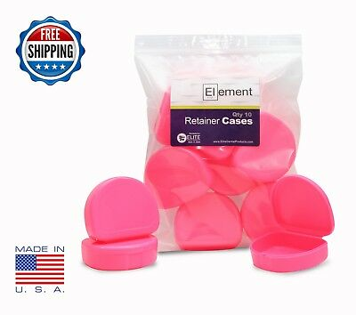 Element RETAINER CASES 10 Pack PINK Invisalign Orthodontic Nightguard Bleaching