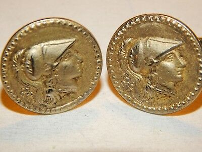 Vintage Kingdom of Macedon Alexander III The Great 900 gold tone Cufflinks