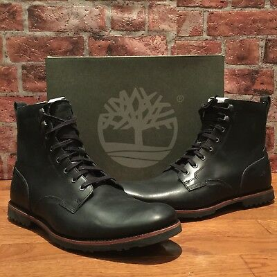 df93d69639d TIMBERLAND KENDRICK SIDE-ZIP Lace Boots Black Leather A1N19 Men Size ...