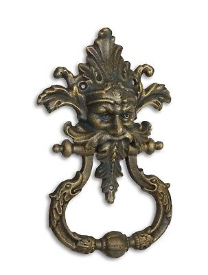 Door - Cast Iron Devil Head Door Knocker  Brass Colour # 19Kl28