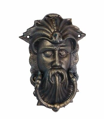 Door - Cast Iron Viking Face  Door Knocker  Brass Colour # 6Xl32
