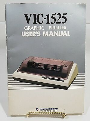 Commodore VIC-1525 Graphic Printer User's Manual 1982 1525001-02