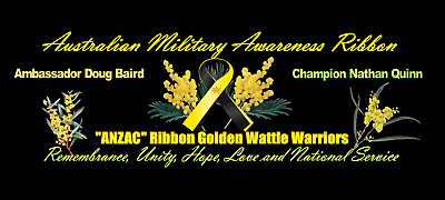 Australian Military Awareness / ANZAC Ribbon with 24CT GOLD E-Plated STAR