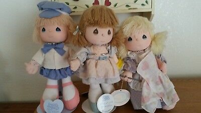 Lot Of3 Precious Moments Dolls By Applause.