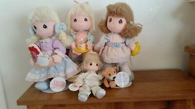 Lot Of 4Precious Moments Dolls By Applause.