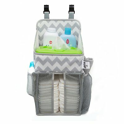 Playard Diaper Caddy and Nursery Organizer for Newborn Baby Essentials, Chevron