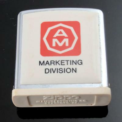 "Zippo ""pill Box"" With Am Marketing Division Logo Front On Gloss Acrylic"