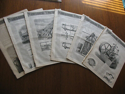 Vintage Lot Of 6 Scientific American Magazines 5 From 1873 & 1 From 1874
