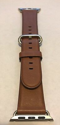 Genuine Apple  Watch Band -  38mm Saddle Brown Classic Buckle - MMH92AM/A