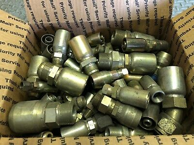 Hydraulic Hose Fittings Assortment - 30 lbs.of Surplus Hose Fittings