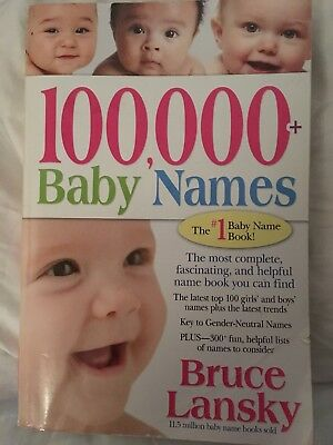 100 000+ Baby Names, the most complete fascinating helpful name book!! *Bargain*
