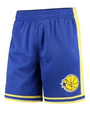45c7697cb32 Royal Blue Golden State Warriors Mitchell   Ness NBA Men s Swingman Shorts