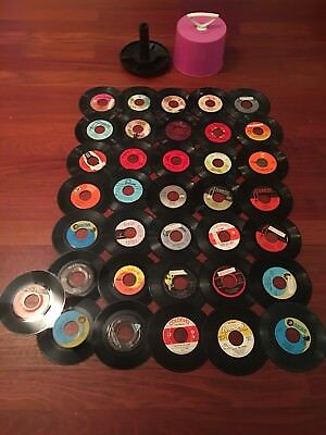 "Lot Of 36 45's Records Jukebox 7"" 45 rpm. Music Or Arts & Crafts Album all Vinyl"