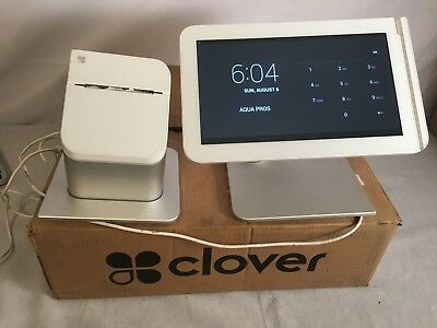 Compete Clover POS System With Touchscreen Printer Drawer C101 P100 D100 AS IS