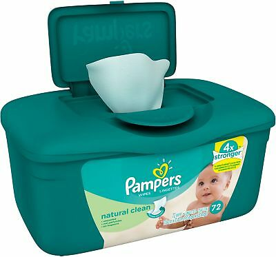 Pampers Baby Wipes Natural Clean Tub 72 Count