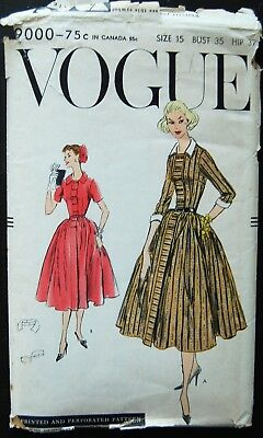 Vintage Original Vogue 50's Afternoon Dress Pattern No. 9000