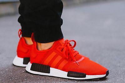 f6956040ca2a9 Adidas Originals NMD R1 Boost Clear Red Black White Bred Running Men s  BB1970