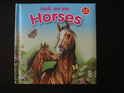 Horses book for Children Toddlers 3-5 years hard pages, fully illustrated Great