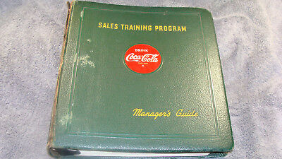 Rare 1940's Coca Cola Sales Training Program Manager's Guide Book 150 + Pages