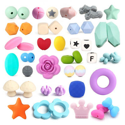 Star Hexagon Silicone Beads DIY Baby Teething Toy Nursing Mom Jewelry Making