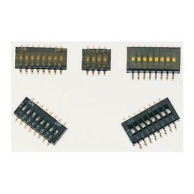 2 x Apem NHDS10TV, 10 Way Surface Mount DIP Switch SPST, 25mA@ 24V dc