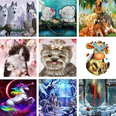 DIY 5D Dog Animals Diamond Painting Embroidery Cross Stitch Home Decor Craft EU