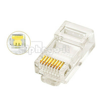 20X Practical Internet Gold Plated Cable Modular Plug Adapter RJ45 8P8C CAT5E