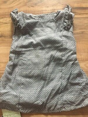 New With Tags PERSNICKETY baby girl shirt gray vintage high end boutique 3 4