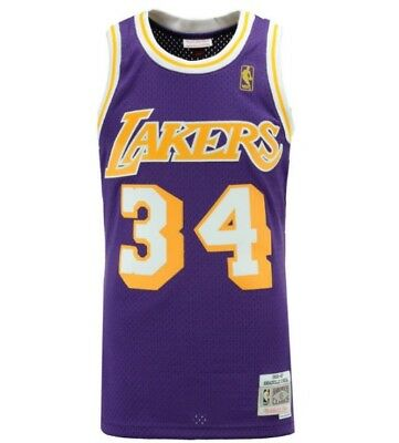 4d9e94547 Shaquille Oneal Los Angeles Lakers Mitchell Ness NBA Mesh Swingman Jersey  Purple