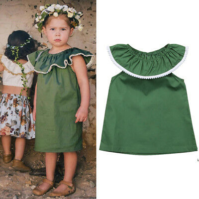 Toddler Baby Girls Dress Sleeveless Party Casual Dresses Kids Sundress Clothes