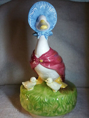 "Beatrix Potter's ""JEMIMA PUDDLE-DUCK MUSIC BOX"" with chicks by SCHMID"