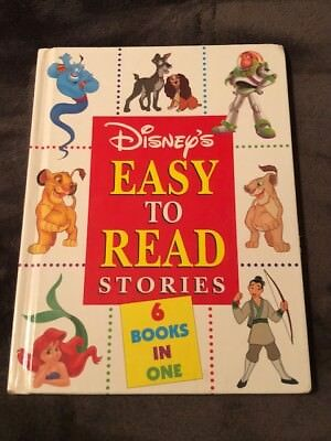 Disney's Easy to Read Stories 6 Books in One HC Kids Book Great Shape!