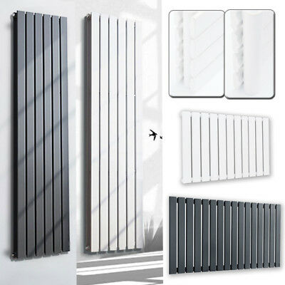 Vertical Design Column Radiator Tall Upright Central Heating Flat Panel Steel UK