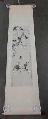 Preowned Chinese Scroll Painting Print
