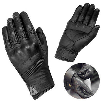 2018 Retro Real Leather Motorcycle Gloves Moto Motocross Racing Glove S/M/L/XL