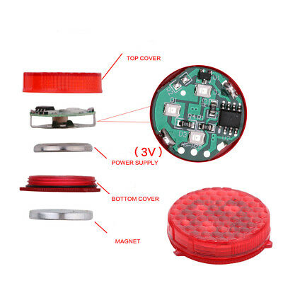 2Pc Car Door LED Opened Warning Flash Light Kit Universal Wireless Anti-collid