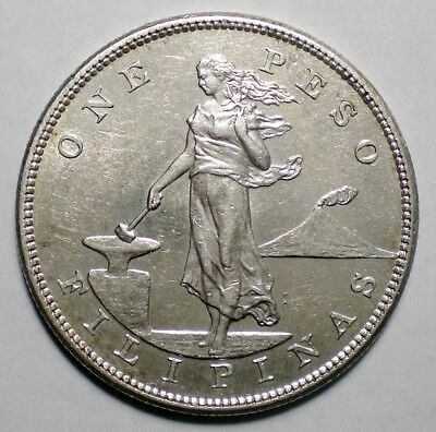 1905 S Phillipines One Peso Silver Coin