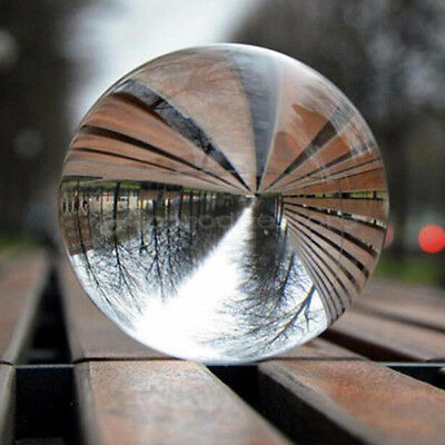 CLEAR CRYSTAL BALL Photo Lens Home Art Photography Glass Prop Decoration